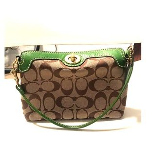 authentic Coach, large wristlet with turnlock